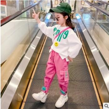 女童网红套装2020新款春装洋气儿童时髦童装女宝宝运动休闲工装潮
