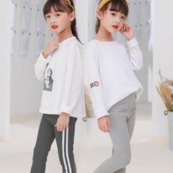 2020年新款春秋季儿童女孩学生弹力打底裤