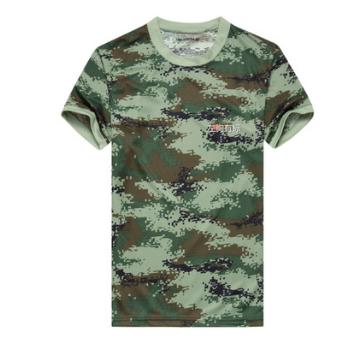 厂家批发迷彩体能服套装正品式短袖T恤夏季户外速干军迷武体能服