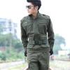凌鹰基地纯棉AK140男士工作服套装外军休闲套装全棉洗水运动套装