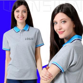 翻领polo衫定制企业工作服印字印图工衣厂服来图定做logo男式t恤