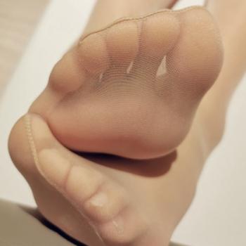 丝袜超薄女足尖透明6D连裤袜脚尖隐形T裆粉底袜无加固浅肤色6755