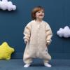 婴儿睡袋四季全棉提花儿童宝宝分腿透气外贸纯棉睡袋工厂批发