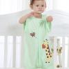 厂家直销婴儿分腿睡袋春夏季薄款空调房纯棉儿童可拆袖宝宝防踢被