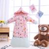 婴儿成长秋冬加厚纯棉宝宝防踢被可拆袖加长包新生儿睡袋工厂批发