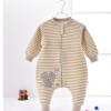婴幼儿纯棉春秋保暖空气棉睡袋儿童宝宝可拆袖彩棉衣服工厂批发发