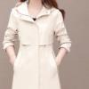 小个子连帽风衣女2020秋季新款韩版修身时尚减龄气质中长款外套