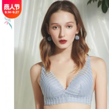 流星谷性感蕾丝内衣女胸罩厂家直销三角杯无钢圈文胸超薄一件代发