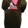 成人加绒加厚保暖长袖水晶绒法兰绒羽绒服外套罩衣大褂男女工作服