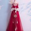 一字肩敬酒服2020新款中式大气长款孕妇遮肚子新娘结婚红色礼服女