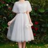 灰色伴娘服仙气质2020新款夏季姐妹团毕业礼服裙女宴会显瘦中长款