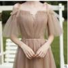 伴娘服2020现款简约大气香槟色森系婚礼姐妹团平时可穿轻晚礼服女