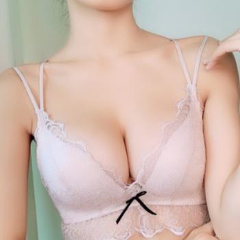 727性感浪漫法式睫毛蕾丝一片式三角杯聚拢三排扣文胸套装