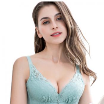 新款女神无钢圈防下垂文胸聚拢调整收副乳女士内衣性感上托胸罩