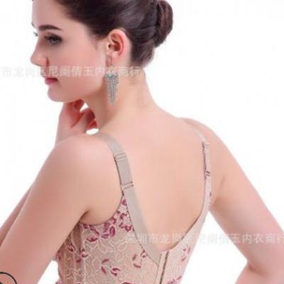 代发新加坡丝琳同款无钢圈无海绵妮尔能量气波调整型文胸聚拢胸衣
