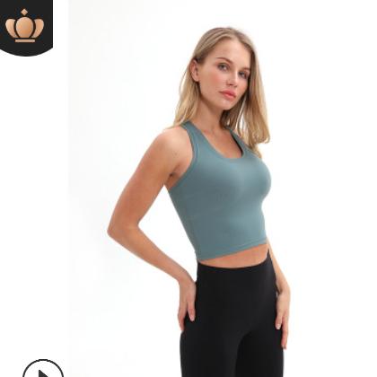 新款瑜伽运动小背心女 高弹工字美背健身衣 运动休闲百搭瑜伽服