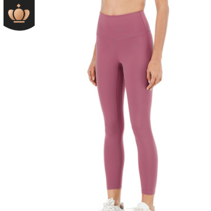 双面磨毛裸感瑜伽裤女 跑步运动健身九分裤 高腰显瘦弹力小脚裤