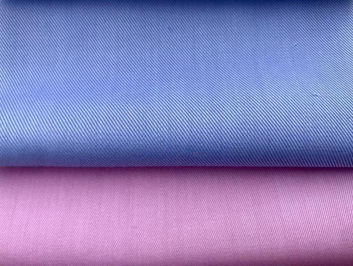 贡创纺织 双面斜纹色织衬衫面料