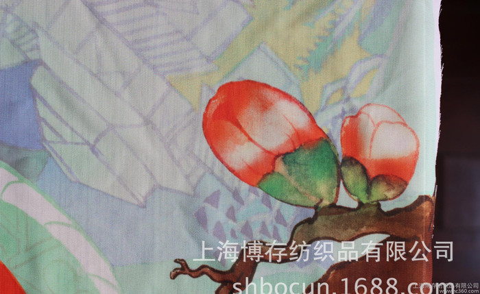印花童装羽绒服棉服面料 羽绒面料 印花转移印花面料印花