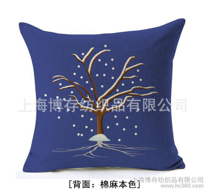 专业数码印花棉麻抱枕靠垫腰靠头枕欢迎来图订制数码印花抱枕