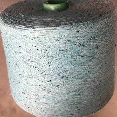 金巧手 精梳全棉色纺纱 7支-60支可以定纺生产 现货彩点纱点棉麻灰加黑点纱 本白棉金银丝纱可以单染棉纱