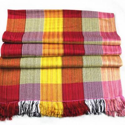 云南民族风 丽江摩梭手工编织围巾 多用棉麻披肩 手工流苏围巾