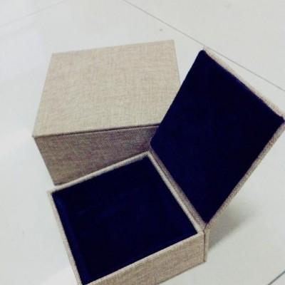 定做木盒麻布礼盒 简约茶叶麻布盒 首饰玉器包装盒 棉麻礼品盒