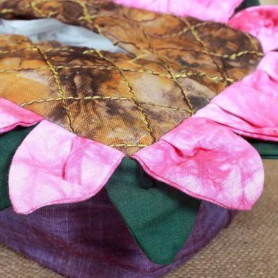 田园风家居装饰 全手工布艺棉麻向日葵方形纸巾盒 多色 抽纸盒