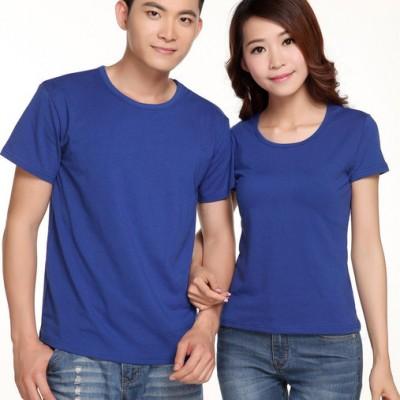 定制短袖纯棉工作服T恤定做学生班服翻领POLO广告衫可印字印logo
