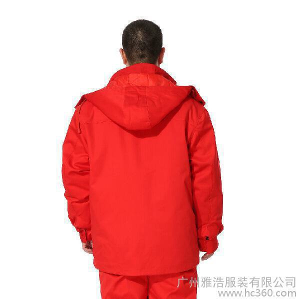 雅浩-定制加油站工作服 长袖防静电工程服 中石化棉衣