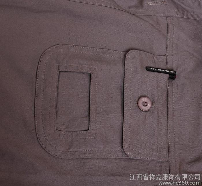 劳保工作服定做 薄型纯棉纱细短袖工程服汽修厂服劳保服电焊工服