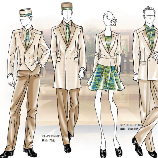 四川星级酒店制服定做--开业工作服定做--制服设计定做