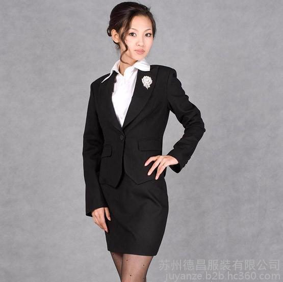 工作服定做 长袖套裙女 白领服装、酒店吧台经理制服、职业制服女
