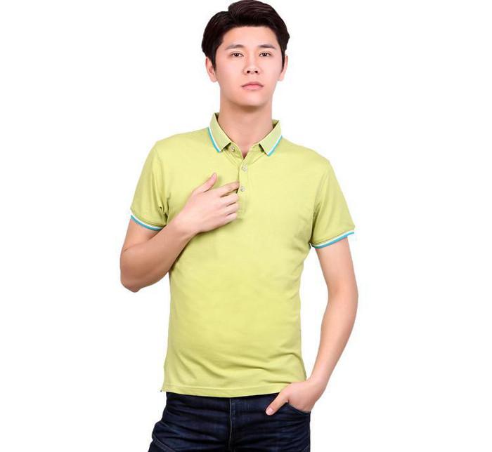 翻领广告衫定做 工作服T恤diy定制 同学会企业文化衫