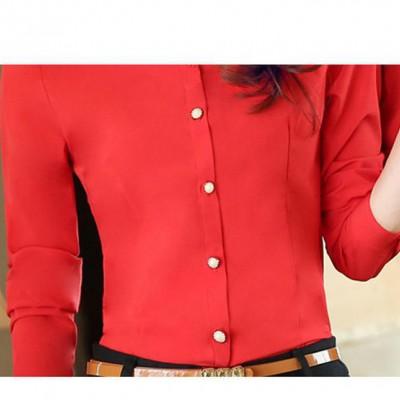 2016春季女装高端职业装女衬衫长袖圆领职业工作服学生女