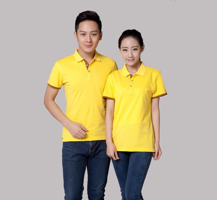 工厂广告Polo衫定做工作服全纯棉翻领宣传短袖T恤定制地印绣