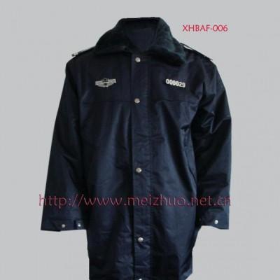 订做上海保安大衣防寒服保安制服定做工作服加工厂