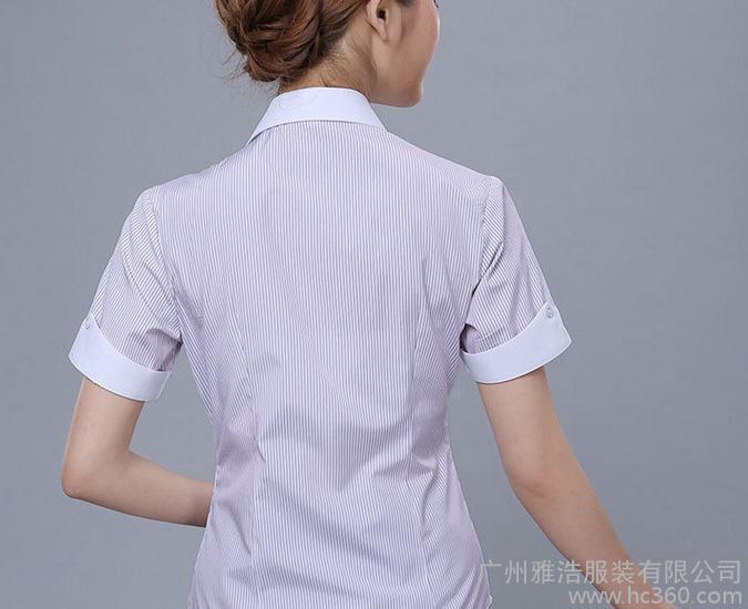 定制2015夏装女士商务职业斜纹衬衣物业工厂管理工作服