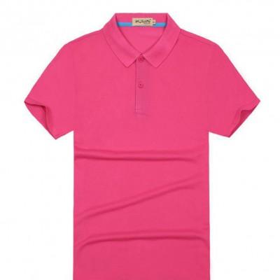 短袖纯棉翻领工作服定做男女式T恤定制广告衫文化衫印LOGO