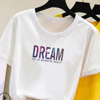 2021韩版夏季新款时尚ins女装短袖t恤女学生休闲宽松上衣潮打底衫