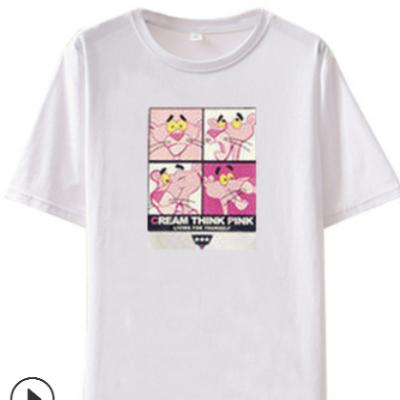 2021夏季韩版新款卡通短袖t恤女学生休闲宽松大码女装潮一件铺货