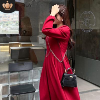 2021春季新款微胖mm200斤收腰V领显瘦女神范大码女装连衣裙N7876