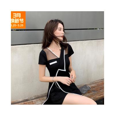 夏装2021新款韩版时尚洋气网红减龄显瘦套装女小香风两件套连衣裙