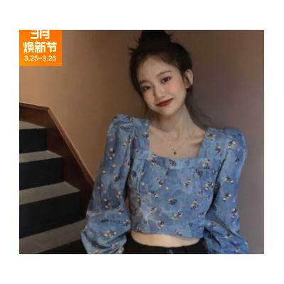 2021年春装新款娃娃领长袖衬衫韩版时尚小衫甜美风温柔衬衣女装