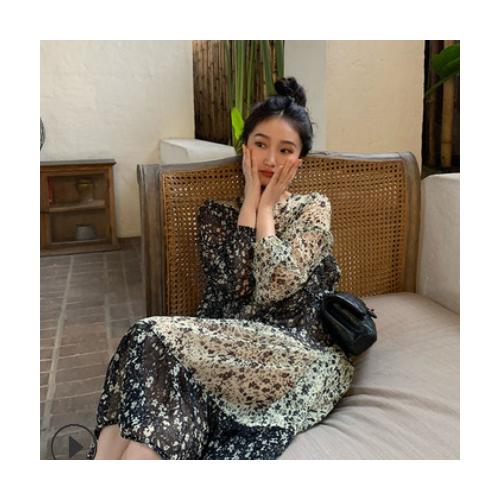 气质优雅浪漫法式碎花连衣裙设计感时髦春2021新款女气质长裙女装