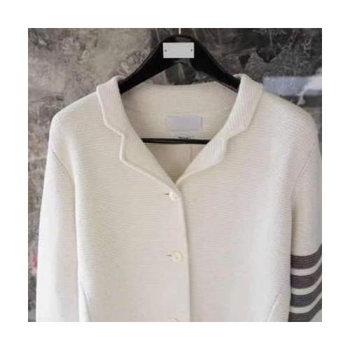木井日本 TB西服单排扣四道杠华夫格纯棉长袖西装外套